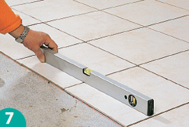 How to level a tile floor