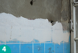 Plaster Over The Transition Instead Of Sanding You Can Improve Adhesion With A Wafer Thin Layer Tile Adhesive